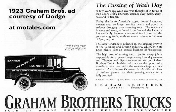 1923 Graham Brothers Trucks ad